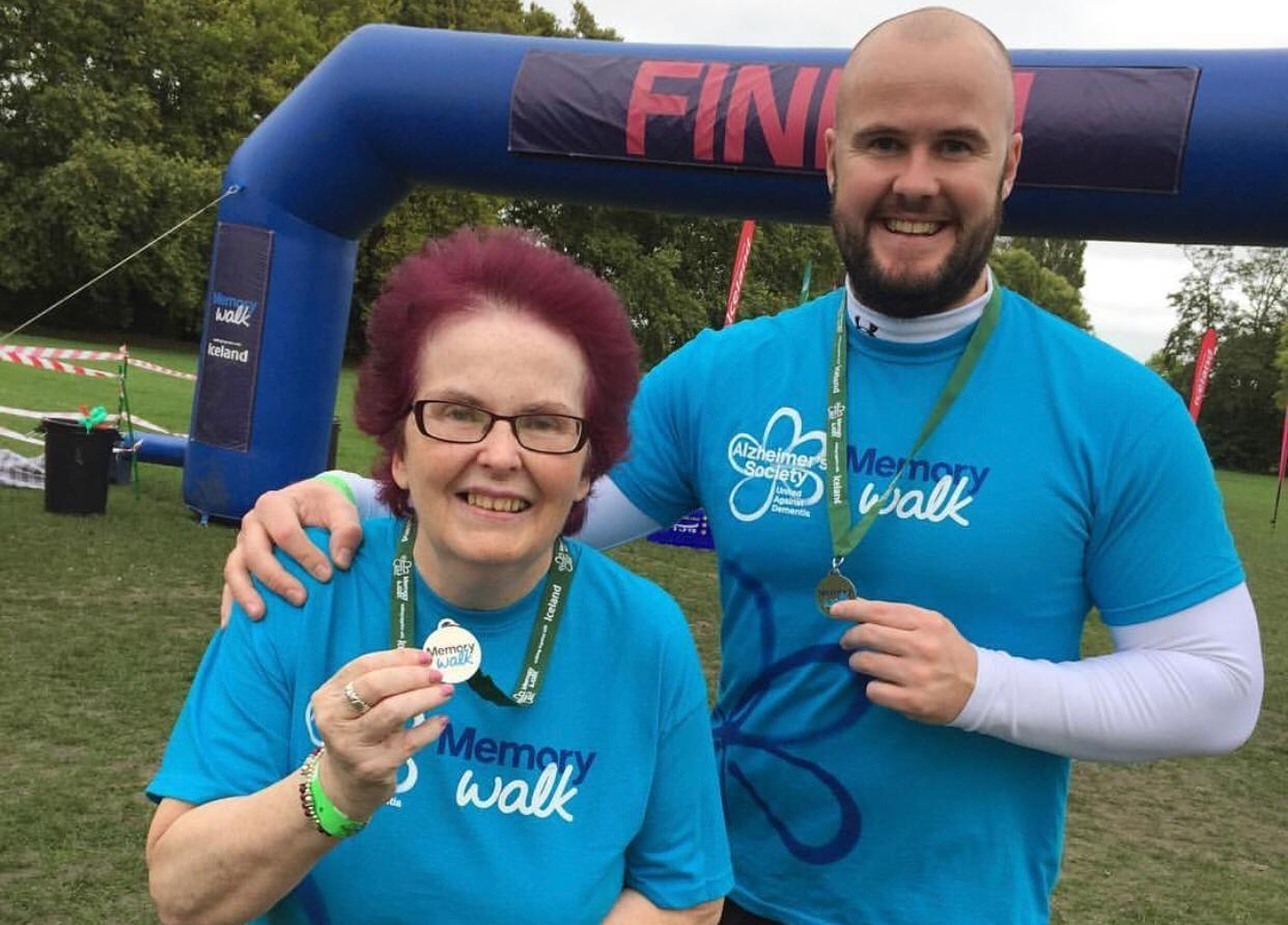 Neil with his mum at Memory Walk