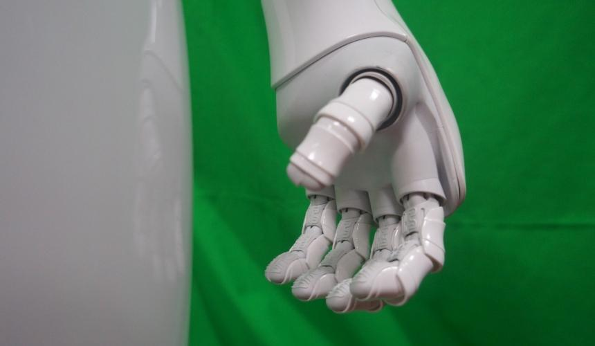Pepper the robot's hand