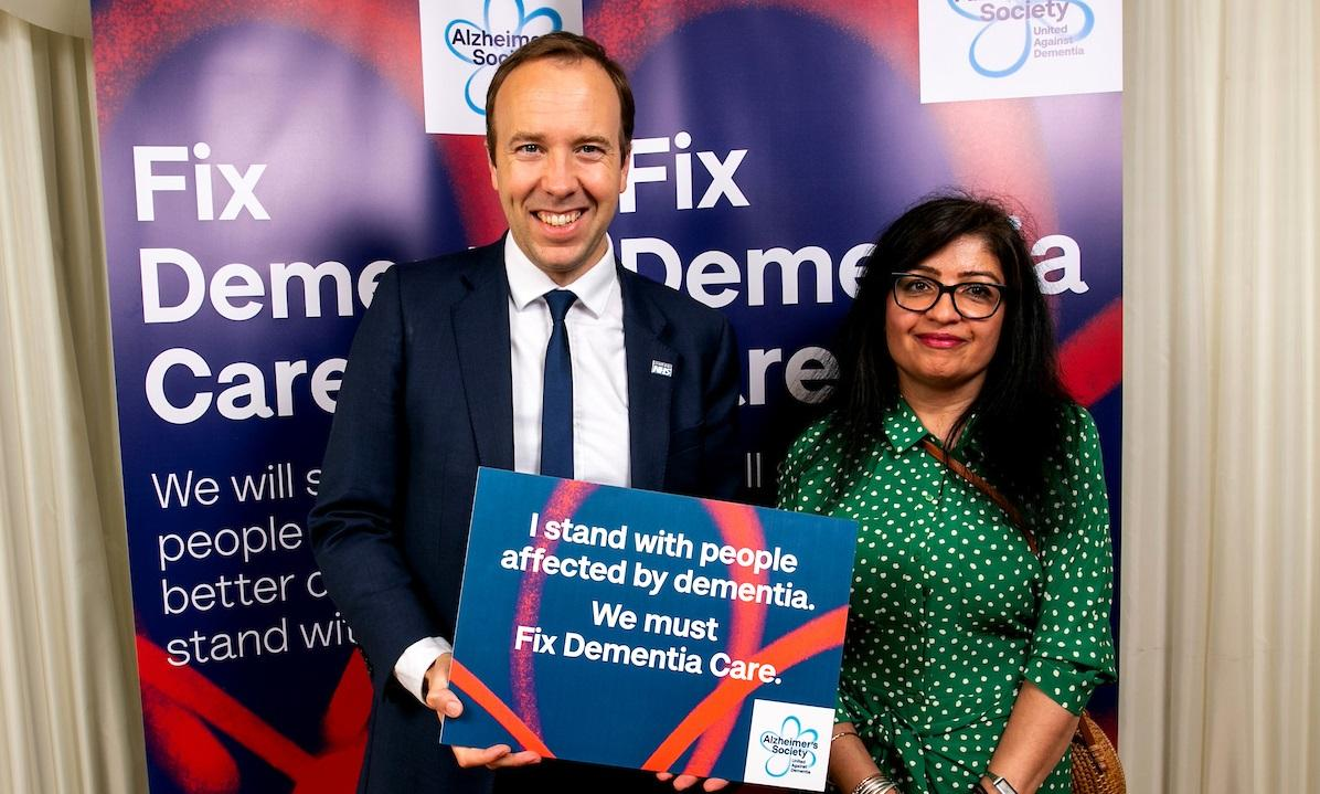 Matt Hancock MP supporting Fix Dementia Care