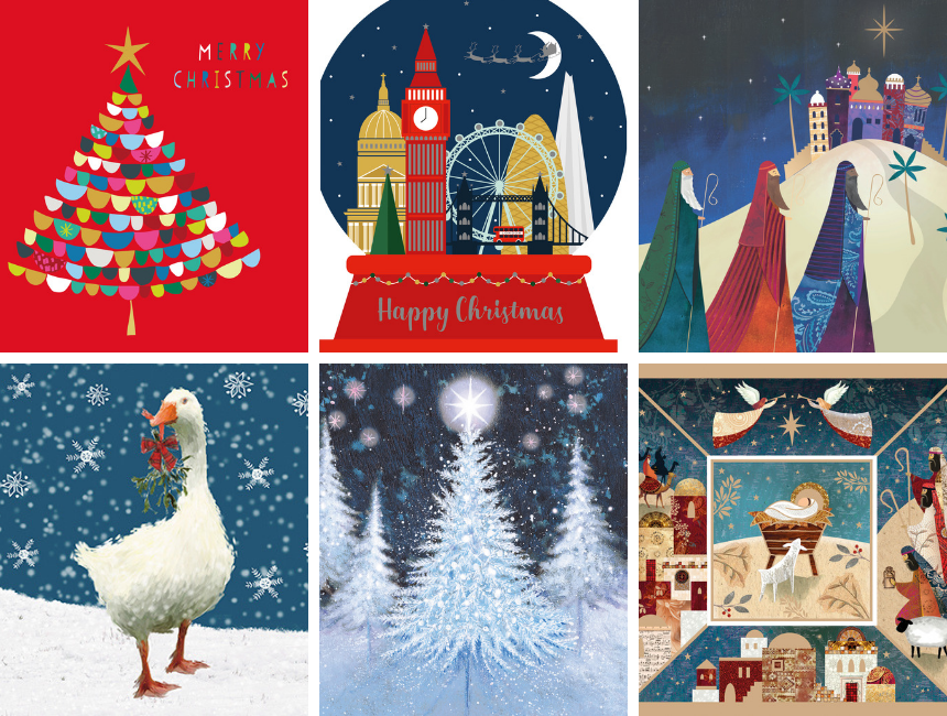 6 Christmas card designs