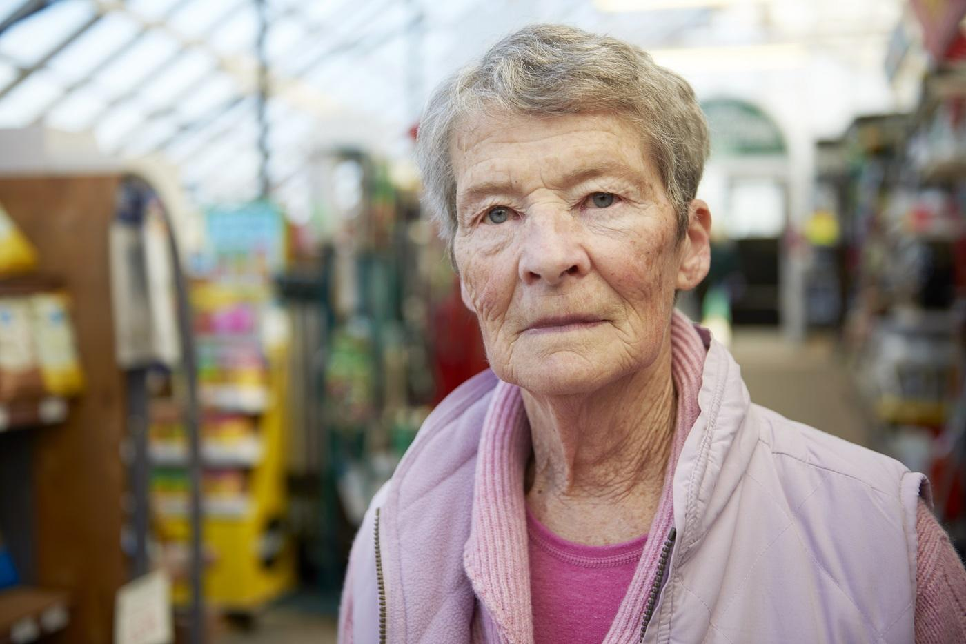 A woman with dementia