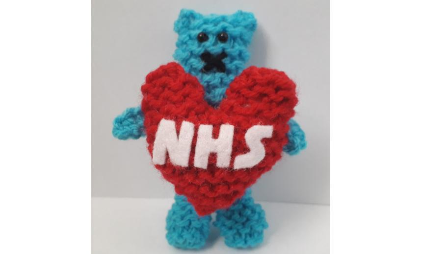 NHS Snuggle Bear Fidget Toy Embed