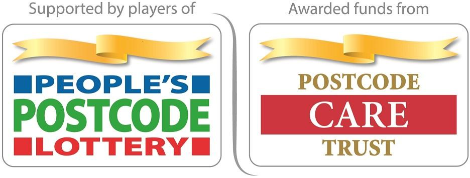 Supported by players of People's Postcode Lottery and awarded funds from Postcode Care Trust
