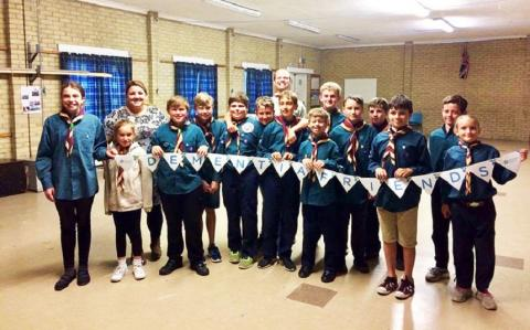 Scouts making Dementia Friends