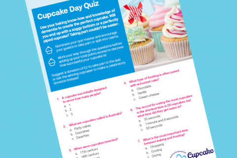 An image of the Cupcake Day quiz