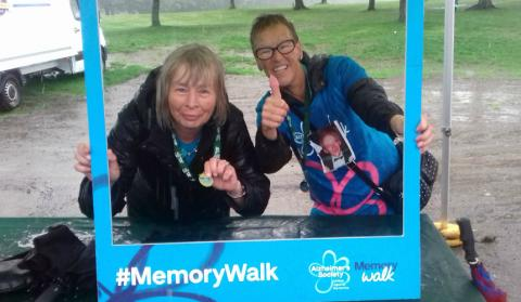 Jeanette taking part in Memory Walk