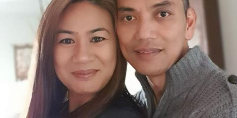 Michelle Macadangdang and her husband