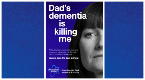 Preview of Dementia Action Week poster 'Dad's dementia is killing me'