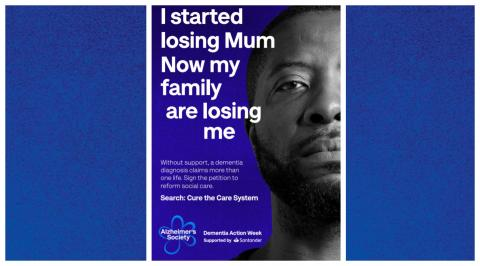 Preview of Dementia Action Week poster 'I started losing Mum. Now my family are losing me'